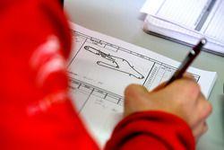 Ingenieur arbeitet, José María López, Citroën World Touring Car team Citroën C-Elysée WTCC