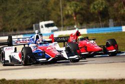 Спенсер Пиго, Rahal Letterman Lanigan Racing Honda, и Джек Хоксуорт, A.J. Foyt Enterprises Honda