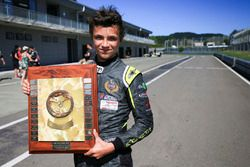 Winner Lando Norris with his trophy