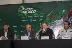 Gerard Neveu, CEO WEC; José Abed Vice president FIA México; Jean Todt, FIA President and Ricardo Gonzalez, RGR Sport