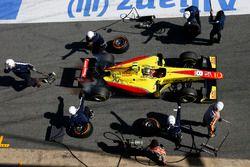 Sean Gelael, Jagonya Ayam Campos Racing, s'arrête aux stands