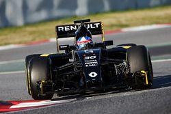 Jolyon Palmer, Renault Sport F1 Team RS16 unterwegs mit Sensoren am Auto
