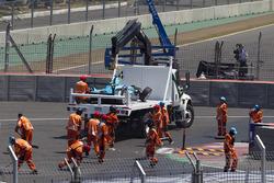 Car of Nelson Piquet Jr., NEXTEV TCR Formula E Team after his crash