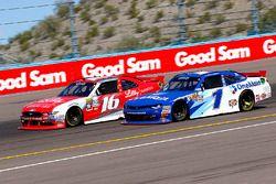 Ryan Reed, Roush Fenway Racing Ford and Elliott Sadler, JR Motorsports Chevrolet