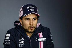 Sergio Perez, Force India lors de la conférence de presse