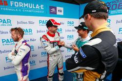 Antonio Felix da Costa, Andretti Formula E Team, joins Sam Bird, DS Virgin Racing, Maro Engel, Venturi Formula E Team, Andre Lotterer, Techeetah, in the media pen