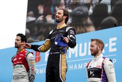Sam Bird, DS Virgin Racing, finishes 3rd with Lucas di Grassi, Audi Sport ABT Schaeffler, finishing 2nd, Jean-Eric Vergne, Techeetah winning the Paris ePrix