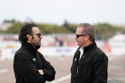 Scott Dixon, Chip Ganassi Racing Honda team, Dario Franchitti y Scott Harner