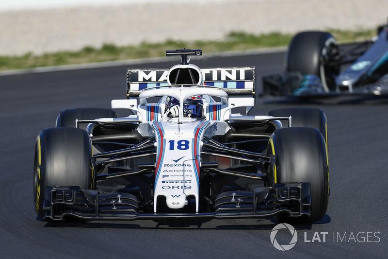Lance Stroll, Williams FW41, Lewis Hamilton, Mercedes AMG F1 W09