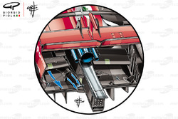 Ferrari SF71H Salida adicional del difusor