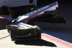 Williams FW41, dettaglio dell'ala posteriore