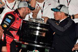 Austin Dillon, Richard Childress Racing Chevrolet Camaro and team celebrate in victory lane