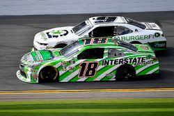 Daniel Suarez, Joe Gibbs Racing, Interstate Batteries Toyota Camry and Tyler Reddick, JR Motorsports