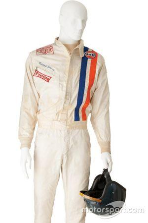 Casco y traje Steve McQueen de la película de Le Mans
