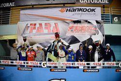 Alan Hellmiester, Adalberto Baptista, Luca Seripiere, Bruno Baptista of MGM Racing, Lino Fayen, Juan Fayen, and Angel Benitez Jr. of Formula Motorsport, Esio Vichiesi of Ginetta USA