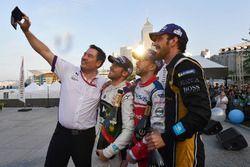 Alex Tai, Team Principal, DS Virgin Racing, Sam Bird, DS Virgin Racing, Nick Heidfeld, Mahindra Raci