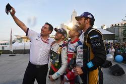 Alex Tai, Takım Patronu, DS Virgin Racing, Sam Bird, DS Virgin Racing, Nick Heidfeld, Mahindra Racin