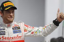 Podium: Jenson Button, McLaren