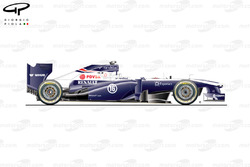 Williams FW35 side view, Australian GP