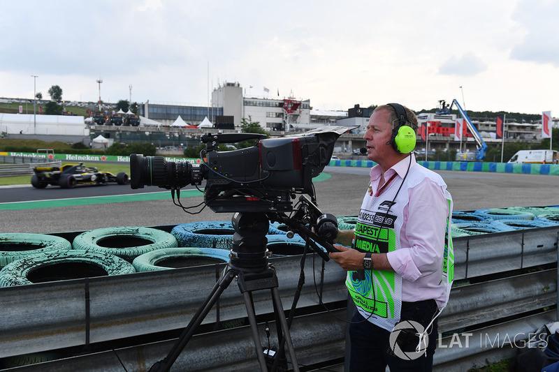 Martin Brundle, Sky TV operates a TV camera