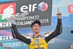 Podio: il vincitore Davide Stirpe, Extreme Racing Bardahl MV Agusta