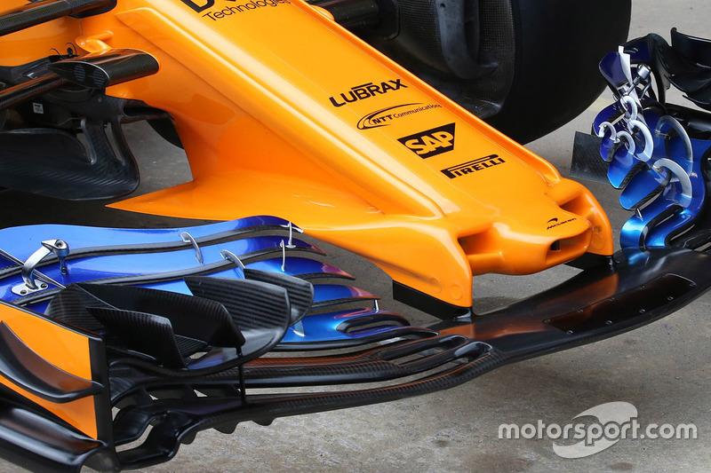 McLaren MCL33 burun ve ön kanat detayı