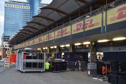 Pakowanie sprzętu Red Bull Racing