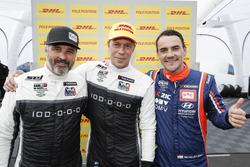 Top 3 na kwalificatie: Pole-position voor Thed Björk, YMR Hyundai i30 N TCR, Yvan Muller, YMR Hyundai i30 N TCR, Norbert Michelisz, BRC Racing Team Hyundai i30 N TCR