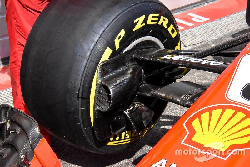 Une écope de frein de la Ferrari SF71H
