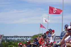 Fans of Lance Stroll, Williams Racing, in a grandstand