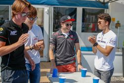 Ralph Boschung, MP Motorsport. Tadasuke Makino, RUSSIAN TIME. Santino Ferrucci, Trident, Nyck De Vries, PREMA Racing