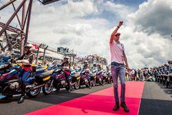 Esteban Ocon, Force India F1 lors de la parade des pilotes