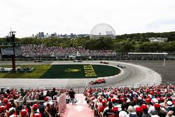 Себастьян Феттель, Ferrari SF71H, Валттери Боттас, Mercedes AMG F1 W09, и Макс Ферстаппен, Red Bull Racing RB14