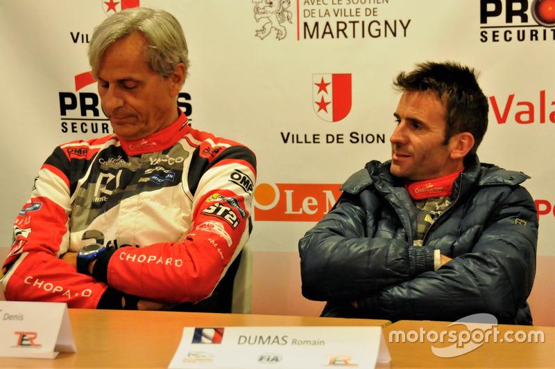 Romain Dumas und Denis Giraudet im Pressekonferenz