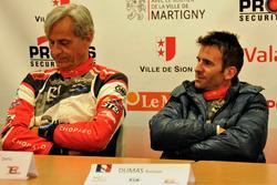 Romain Dumas und Denis Giraudet en conférence de presse