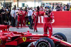 Sebastian Vettel, Ferrari SF70H in gesloten wagenpark