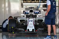 The car of Felipe Massa, Williams FW40 in the garage