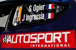 Detalle del auto de Sébastien Ogier, Julien Ingrassia, Ford Fiesta WRC, M-Sport