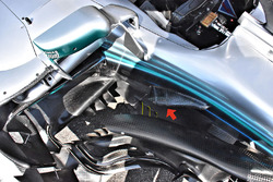 Vue détaillée de la Mercedes AMG F1 W09