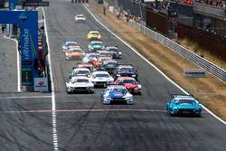 Start, Gary Paffett, Mercedes-AMG Team HWA, Mercedes-AMG C63 DTM leidt