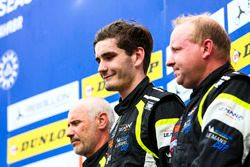 Podio LMP3: i vincitori #15 RLR Msport Ligier JS P3 - Nissan: John Farano, Job Van Uitert, Robert Garofall