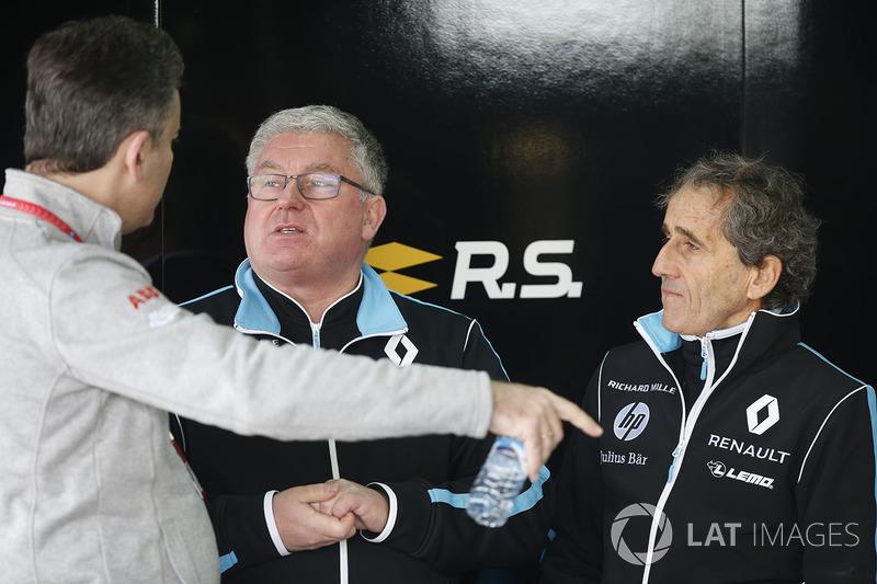 Alain Prost, gerente del equipo Renault e.Dams
