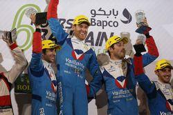 Podium LMP2: première place Julien Canal, Nicolas Prost, Bruno Senna, Vaillante Rebellion