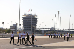 Anthony Davidson, Sébastien Buemi, Kazuki Nakajima, Toyota Gazoo Racing track walk