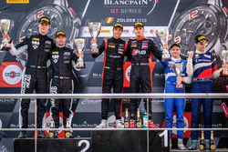 Podium Pro-AM: Winner #3 Team WRT Audi R8 LMS: Gilles Magnus, Alessio Picariello, second place #90 Akka ASP Team Mercedes-AMG GT3: Jack Manchester, Nico Bastian, third place #35 SMP Racing by Akka ASP Mercedes-AMG GT3: Vladimir Atoev, Alexey Korneev