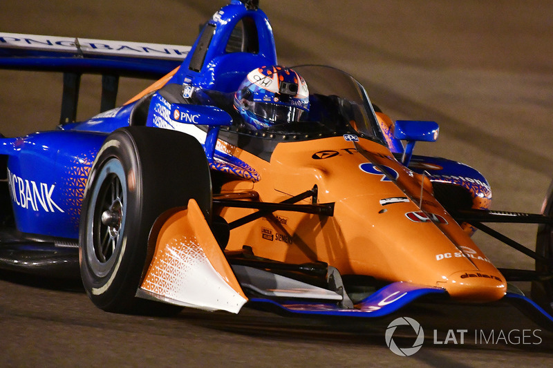 Scott Dixon, Chip Ganassi Racing Honda tests the aeroscreen