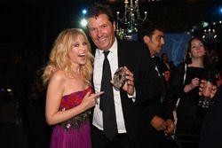 Kylie Minogue en la cena de gala