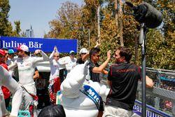 Felix Rosenqvist, Mahindra Racing, Oliver Turvey, NIO Formula E Team, Nelson Piquet Jr., Jaguar Raci