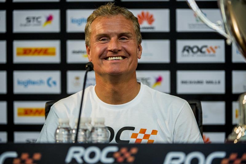 Il vincitore David Coulthard nella conferenza stampa