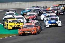 Restart, Lucas Auer, Mercedes-AMG Team HWA, Mercedes-AMG C63 DTM leads